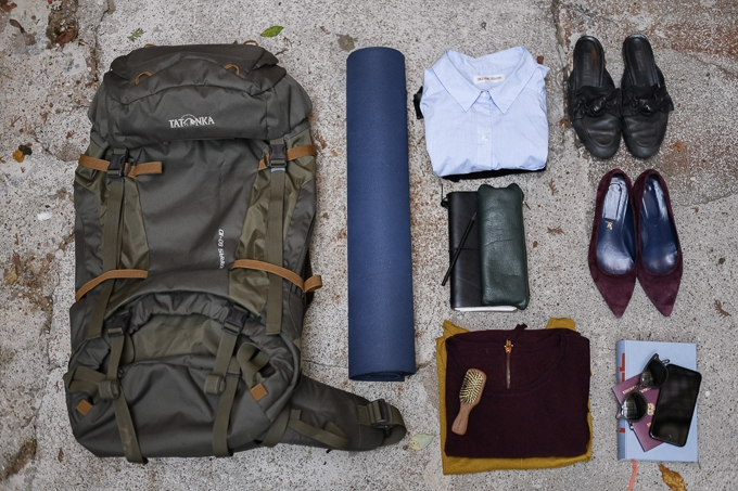 Reise, minimalistisches Packen, Gepäck, light, packing, travel, eco