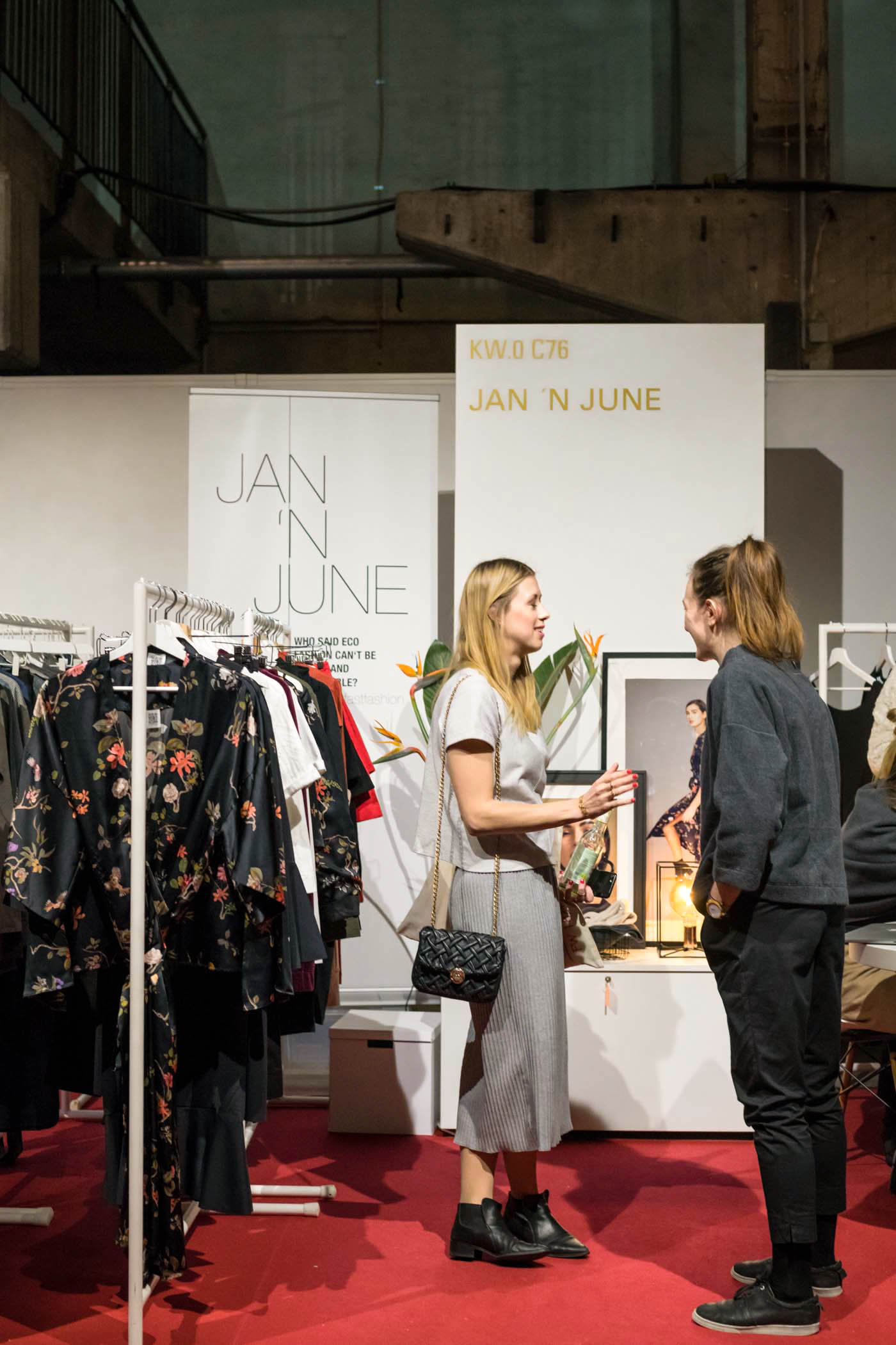 Jan'n June, green showroom