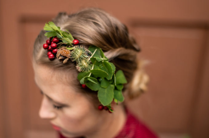 DIY, Freemindedfolks, Doityourself, Upcycling, Autumn, Blätter, Blätterkrone, Blumenkranz, Boho, Crown, flowercrown, Herbst, Hippie, Krone, Natur, Tiara, Wald, Haarreif, Dirndl, Wiesn, Oktoberfest, Tracht, Dirndlschmuck, Magdalena Muttenthaler