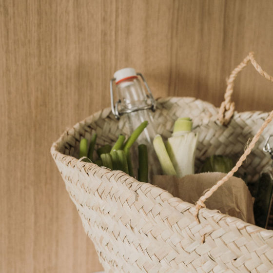 Einkaufskorb aus Seegras
