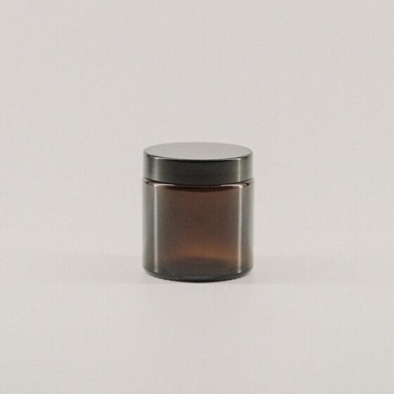 Glastiegel Braunglas