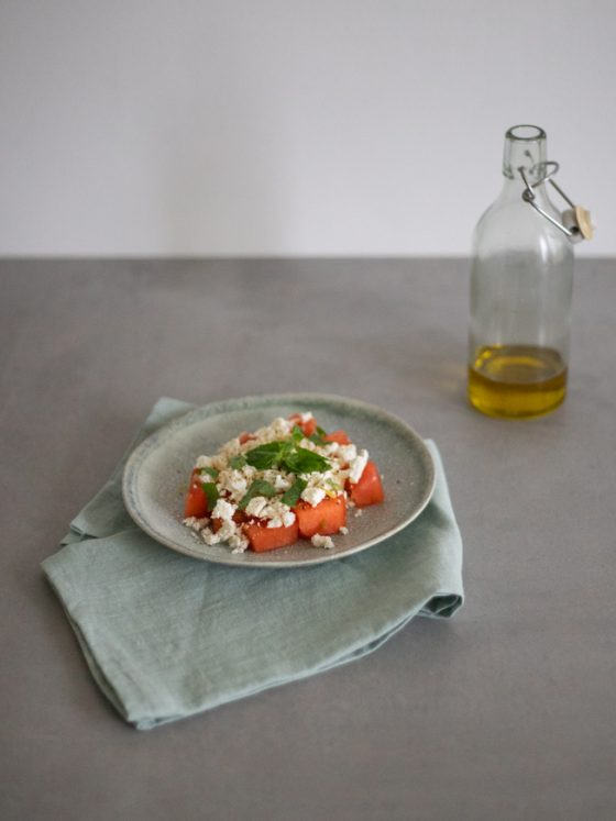 Salat mit Melone, Feta und Minze  FREE MINDED FOLKS